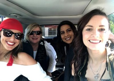 On the road to visit our local dental offices! Nycole, Carol, Karla and Jessica!