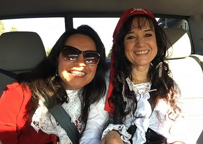 More pirates headed out to spread Halloween spirit! Olga and Karen!