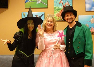 The Wicked Witch, Good Witch and Wizard!