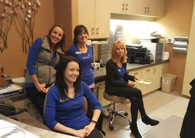 Nycole, Jessica, Karen and Christy ready to share our office's cases and procedures and have some fun!