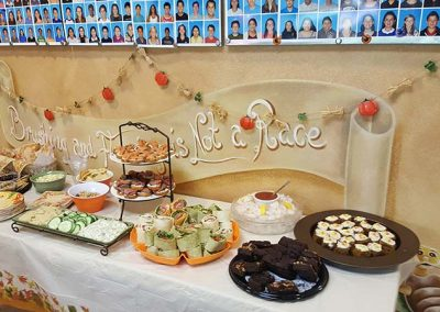 We had delicious food and beverages on hand for the participants.