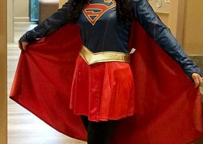 Karen as Super Girl!