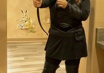 Maria as Katniss!